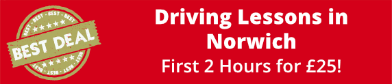 Driving Lessons in Norwich - get your first 2 hours for £25!