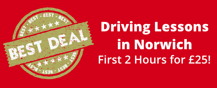Driving Lessons in Norwich - first 2 hours for £25!