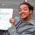 Olivia, who took her driving lessons in Wroxham