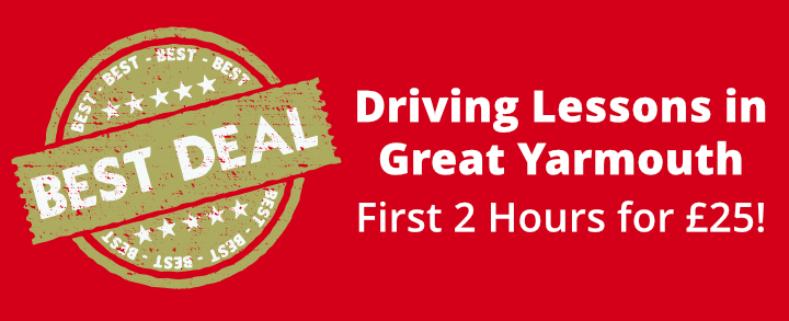 Driving Lessons in Great Yarmouth - first 2 hours for £24!