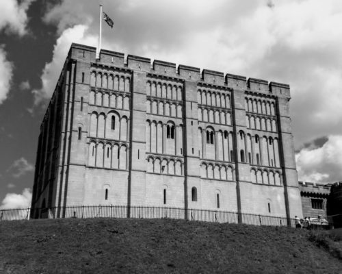 Norwich Castle Museum, which has a popular city centre car park underneath it.