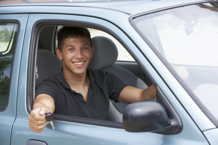 Picture showing a happy man who has passed his driving test