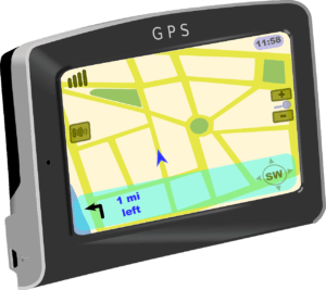 An in-car satnav system, symbolising the need to plan your route in advance.