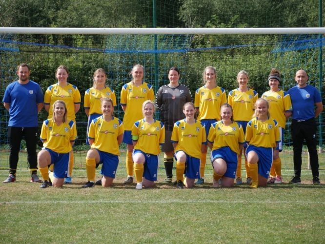 Picture showing the Mulbarton Belles team