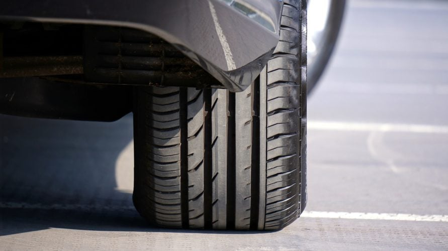 Picture showing a car tyre