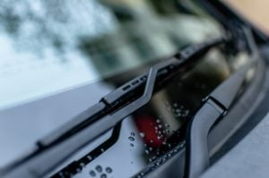 Picture showing windscreen wipers on a car