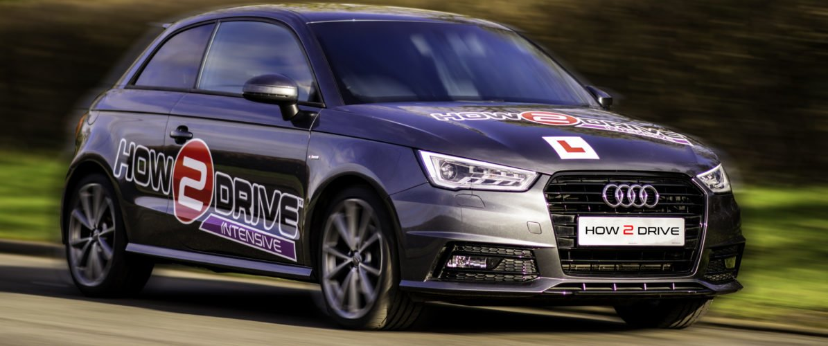 An Audi A1 - one of our intensive driving lesson instruction vehicles.